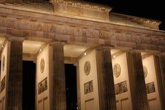 Brandenburg Gate at night, Berlin, Germany Stock Photography