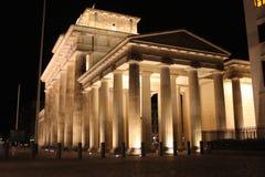 Brandenburg Gate at night, Berlin, Germany Royalty Free Stock Images