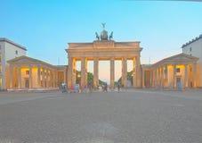 Brandenburg gate at night, Berlin Royalty Free Stock Photo