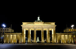 Brandenburg Gate at night. Berlin, Germany - 29.11.2016. royalty free stock photos