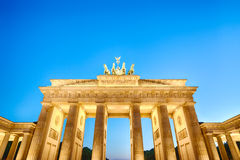 Brandenburg gate at night, Berlin Stock Photos