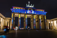Brandenburg Gate in night illumination Royalty Free Stock Photos