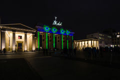 Brandenburg Gate in night illumination. Royalty Free Stock Images