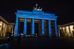 Brandenburg Gate in night illumination. Stock Photos