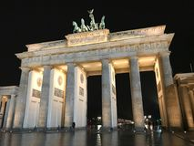 Brandenburg Gate night view royalty free stock photo