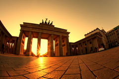 Brandenburg Gate. The Brandenburg Gate is one of Berlin's most important monuments – a landmark and symbol all in one with over two hundred years stock images