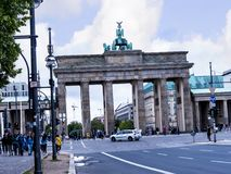 Brandenburg Gate is Berlin`s most famous landmark. A symbol of Berlin and German division during the Cold War Stock Image