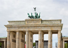 Brandenburg Gate  with Overcast Sky Royalty Free Stock Photo