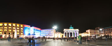 Brandenburg gate panorama Stock Photos