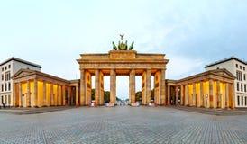 Brandenburg gate panorama in Berlin, Germany Stock Photo