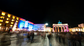 Brandenburg gate panorama Stock Image