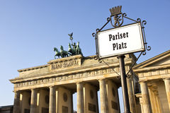Brandenburg Gate Pariser Place Royalty Free Stock Images