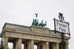 Brandenburg Gate from Pariser Platz Royalty Free Stock Image