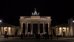 The Brandenburg Gate, Pariser Platz, Berlin, Germany stock footage