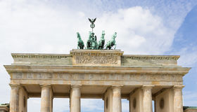 Brandenburg Gate  with Partly Cloudy Sky Royalty Free Stock Photography