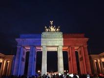 Brandenburg gate. Pray for Paris Royalty Free Stock Photos