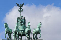 Brandenburg Gate Quadriga Stock Photography