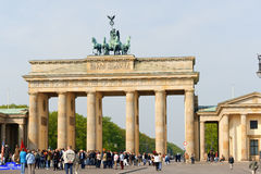 Brandenburg Gate and the Quadriga in Berlin Royalty Free Stock Photos
