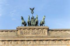 The Brandenburg Gate Quadriga Stock Photos