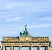 Brandenburg Gate with Quadriga Royalty Free Stock Photo