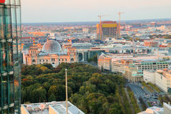 The Brandenburg Gate and Reichstag building  Berlin at sunrise, Germany Royalty Free Stock Photo