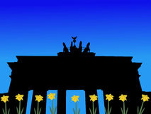Brandenburg gate in spring Royalty Free Stock Photography