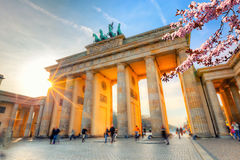Brandenburg gate at spring. Berlin Royalty Free Stock Photo