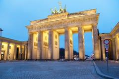 Brandenburg Gate & square at dusk, Berlin Stock Photography