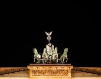 Brandenburg Gate statue Stock Photos