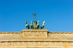 Brandenburg gate statue Stock Images