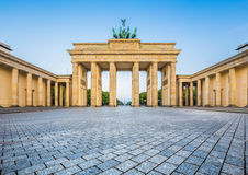 Brandenburg Gate at sunrise, Berlin, Germany Royalty Free Stock Photo