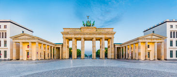 Brandenburg Gate at sunrise, Berlin, Germany stock image