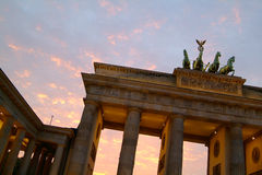 Brandenburg Gate Sunset Stock Images