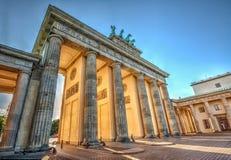 Brandenburg Gate. (1788) at sunset, Berlin, Germany. Hdr image Stock Images