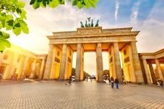 Brandenburg gate at sunset. Brandenburg gate at summer, Berlin royalty free stock photography