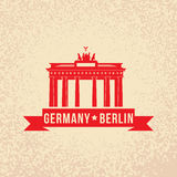 Brandenburg gate - the symbol of Berlin, Germany. Stock Photo