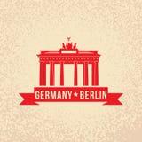 Brandenburg gate - the symbol of Berlin, Germany. Stock Photo