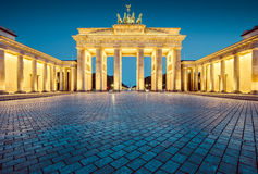 Brandenburg Gate in twilight, Germany Royalty Free Stock Photo