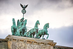 The Brandenburg Gate under dramatic sky Royalty Free Stock Photo