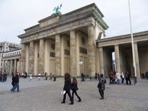 Brandenburg Gate from the west royalty free stock photos