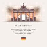 Brandenburg port royaltyfri illustrationer