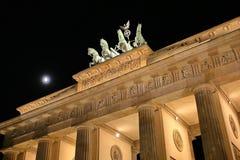 Brandenburg port, Berlin Arkivbild