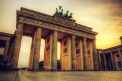 Brandenburg port, Berlin, Tyskland royaltyfri foto