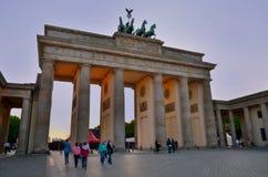 Brandenburg port - Berlin, Tyskland Arkivbilder