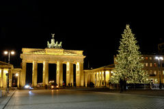 brandenburg port Berlin Tyskland - 29 11 2016 Royaltyfri Foto