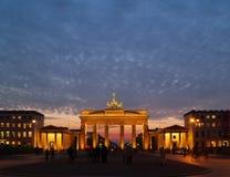 brandenburg skymningport Arkivbild