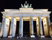 Brandenburg tor. In Berlin Royalty Free Stock Photography