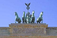 Brandenburg Tor & Victoria's Quadriga Royalty Free Stock Photography