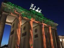 Brandenburger突岩Brandenbug门在柏林 免版税库存图片
