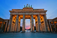 Brandenburger Gate. In Berlin, the capital of Germany stock photo